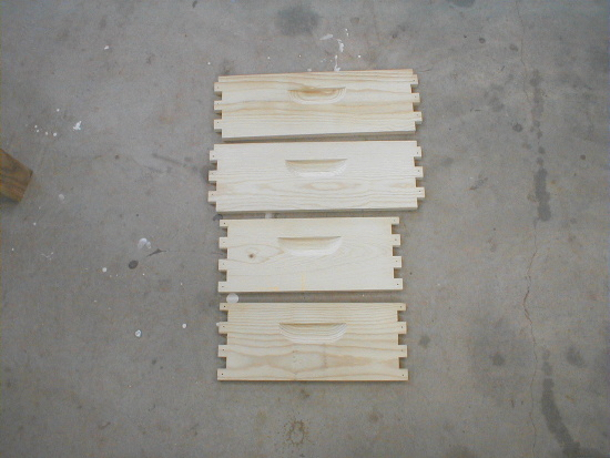 honey bee hive body - unassembled parts