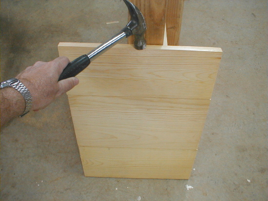 honey bee hive bottom board - fitting parts together