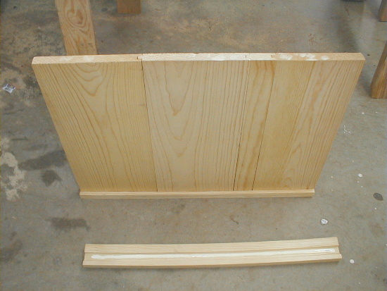 honey bee hive bottom board - adding second side rail