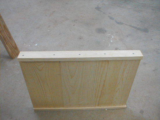 honey bee hive bottom board - side rails nailed on