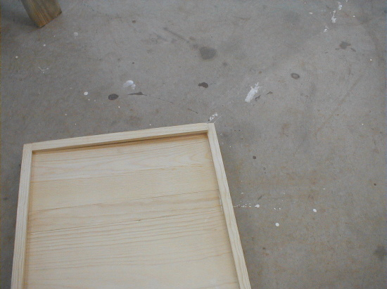 honey bee hive bottom board - cleat needs trimming