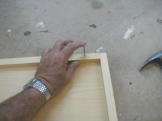 honey bee hive bottom board - nailing on cleat