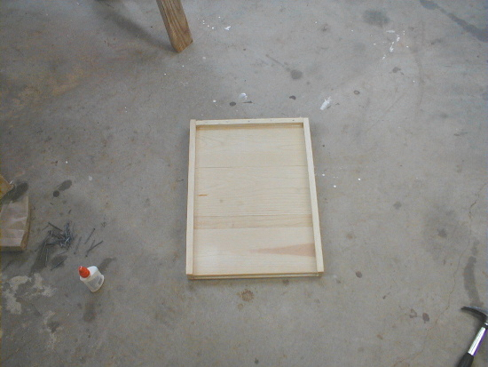 honey bee hive bottom board - assembly complete