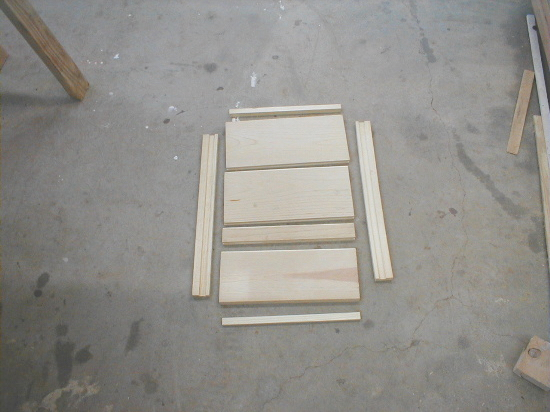 honey bee hive bottom board parts before assembly