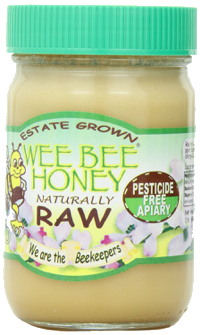 ' ' from the web at 'http://www.bees-and-beekeeping.com/images/amazon-wee-bee-raw-honey.jpg'