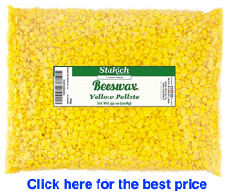 yellow beeswax pellets stakich