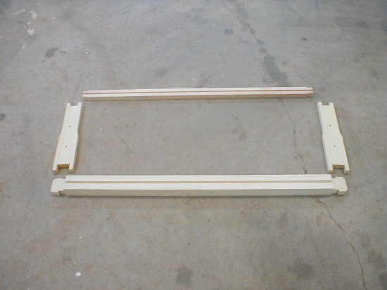 honey bee hive frame - unassembled parts