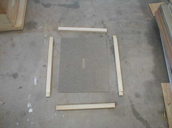 bee hive inner cover assembly - unassembled parts